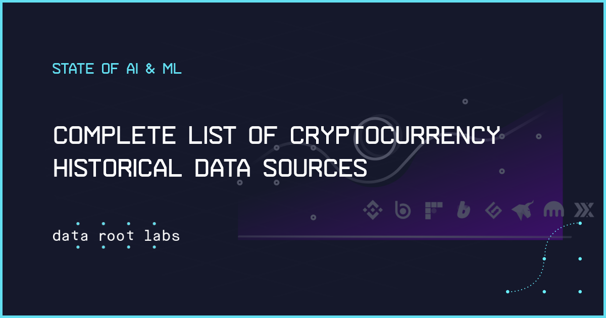 Complete list of Cryptocurrency Historical Data Sources